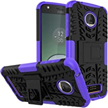 """Moto Z Play Droid Case,Yiakeng Shockproof Impact Protection Tough Rugged Dual Layer Protective Case Cover with Kickstand for Motorola Moto Z Play Droid 5.5"""" Purple Yiakeng-yj-00101"""