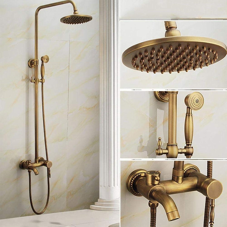 Shower Messing-Duscharmatur-Set Messing-Duschkopf Antik-Duschset Handbrause Wannen- und Duscharmatur, b-1