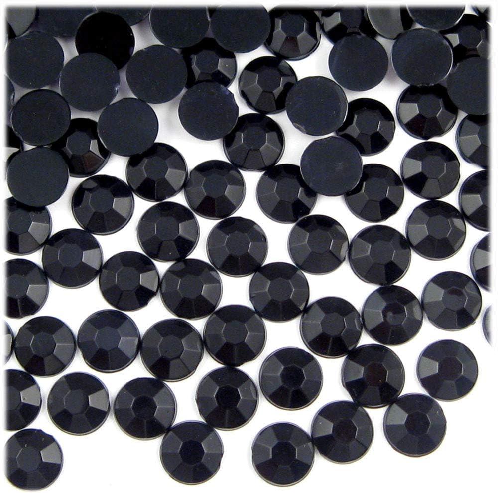 Limited time sale List price 144pc Flatback Acrylic Rhinestones Round 34ss Black Jet - 7mm