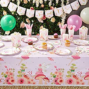 fairy birthday party decorations dinnerware favor boxes balloons banner 24 guests