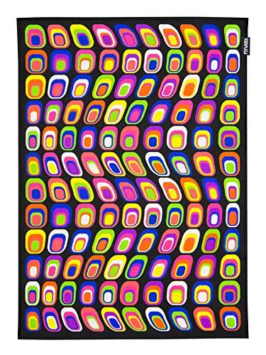 PSYWORK Schwarzlicht Stoffposter Neon Neon Retro, 0,5x0,7m