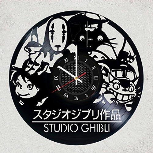 GHIBLI STUDIO VINYL WALL CLOCK - Best of the best gift for fan animation films - Japanese anime AMAZING GHIBLI STUDIO - merchandise gifts for children bedroom decoration comics
