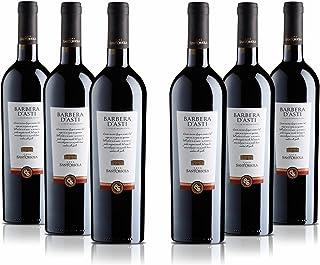 Sant'Orsola Vino Rosso -Barbera D'Asti D.O.C.G. - Pacco Da 6 X 750 Ml - 4500 ml