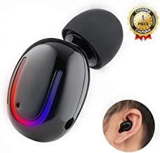 Wireless Bluetooth Earbud, CHSMONB Single Bluetooth Earphone 5 Hours Playtime Mini Invisible Bluetooth Headphone with Microphone Compatible for Cell Phone (Black)