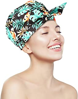Shower Cap for Women,Reusable Shower Caps Waterproof Shower Caps for Take Shower Bathtub Hair Cap
