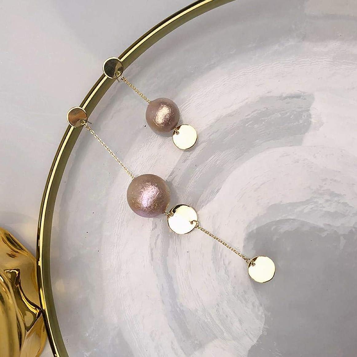 事務所同性愛者北西WXQ-XQ ロングとショート非対称の模造真珠のイヤリング女性の人格シンプルで汎用性の高い気質のイヤリング イヤリング