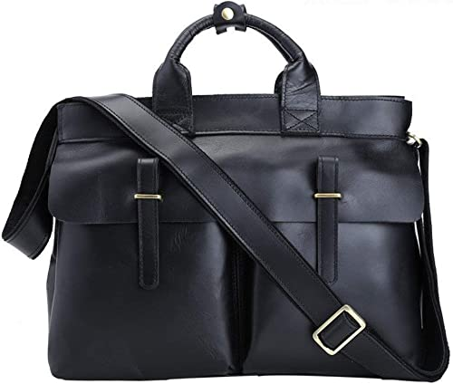 Briefcase Home Business Aktentasche Leder Herren Tasche Schulter Crossbody Tasche