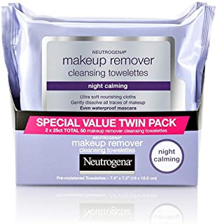 Neutrogena Night Calming Makeup Remover Cleansing Towelettes - 25 ct - 2 pk