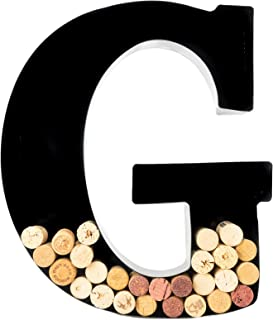 Wine Cork Holder – Metal Monogram Letter (G)