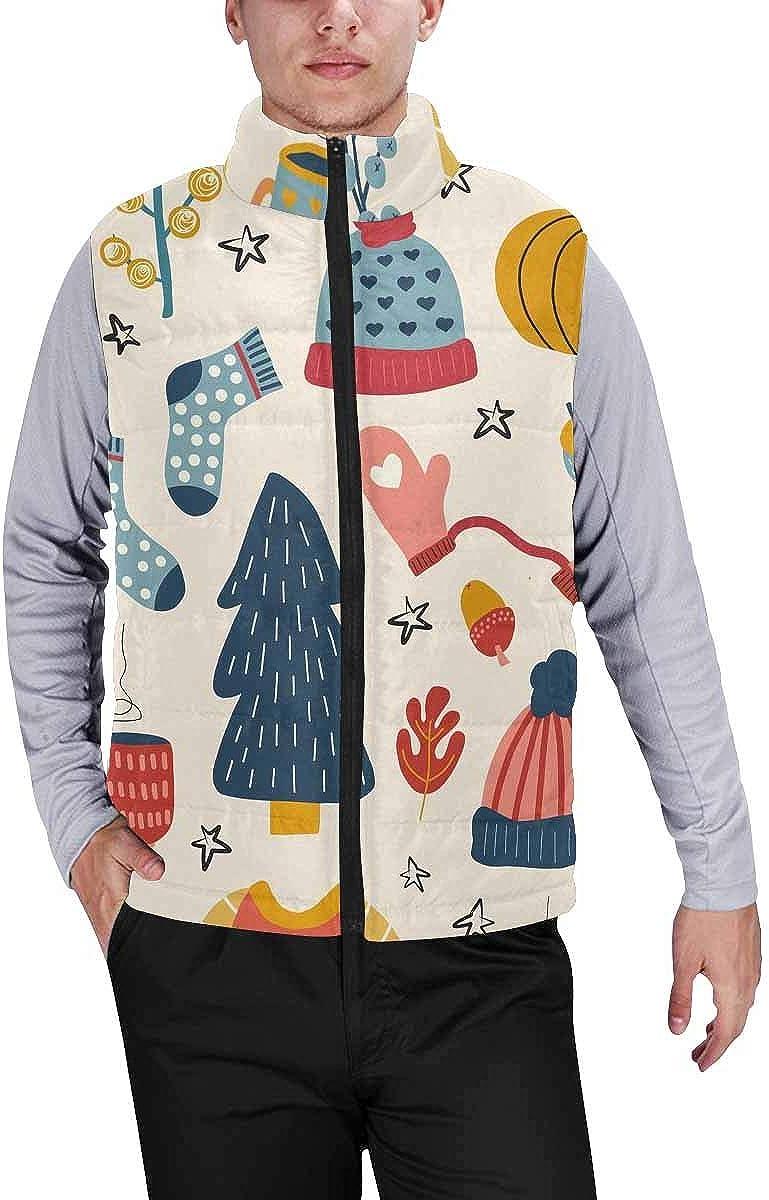 InterestPrint Men's Lightweight Outwear Vest for Hiking, Fishing Vintage View of Paris, Grunge Background