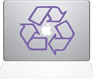 "The Decal Guru Go Green Recycle MacBook Decal Vinyl Sticker  - 15"" Macbook Pro (2016 & newer) - Lavender (1068-MAC-15X-LAV)"
