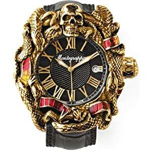 Montegrappa Chaos Gold and Enamel Automatic Watch