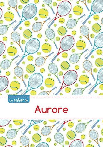 Le cahier d'Aurore - Petits carreaux, 96p, A5 - Tennis