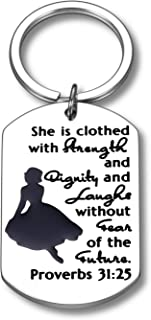 Christian Women Keychain Gifts for Mom Female Friends Teen Girls Encouragement Faith Gift for Daughter Sister Cousin Aunt ...