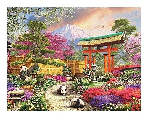 Puzzle Challenge paisaje y la pintura al óleo del clásico Puzzle 1000 piezas de la placa de madera del rompecabezas for adultos, los rompecabezas que se pueden mostrar en marco de bricolaje, las fotos