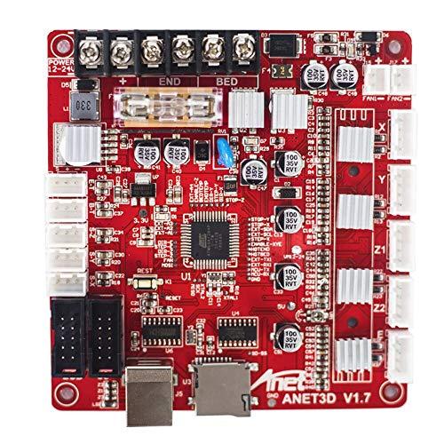 KEHUASHINA 3D Drucker Mainboard- A8 V1.7 Upgrade Sicherheit und Präzision - Selbstmontage 12V Motherboard - Ersatz für DIY Auto Leveling A8 3D Desktop Drucker - 3D Drucker Zubehör