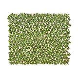 jarolift Künstliche Pflanzenwand Gardenienblätter Sichtschutz Wandbegrünung Balkon Gartenzaun, auch für Innenwände geeignet, mit Spalier 200 x 100 cm