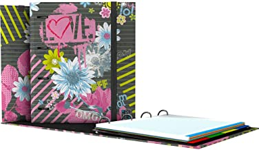 Carpebook Noa Bloom Grafopl/ás 88101960 Carpeta 4 Anillas Troqueladas con Recambio de Hojas A4