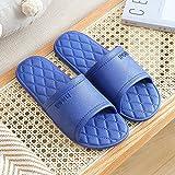 JFHZC Zapatillas para Famili,Sandalias y Zapatillas para el hogar de Verano para Hombres, Zapatos de baño Antideslizantes de Secado rápido para Parejas con Fugas-Navy_1_40-41
