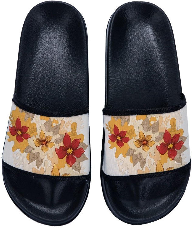 Buteri Vintage Flowers Painting Slippers Non-Slip Quick-Drying Slippers for Women Kids Men Kids