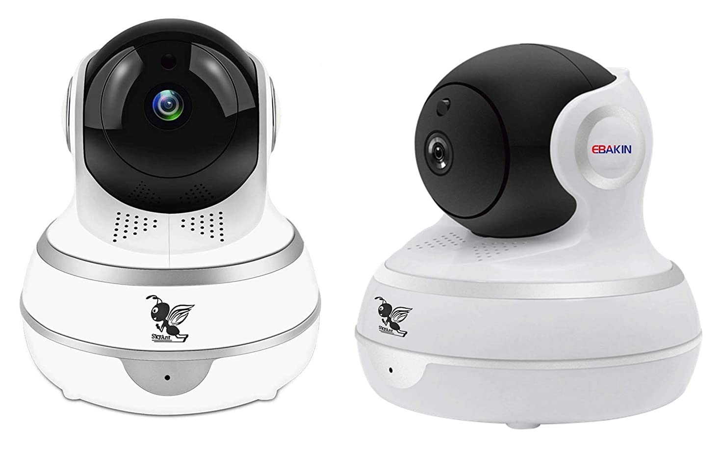 EBAKIN 1080P Security Indoor Smart Camera, Wireless HD Home Surveillance IP Camera with Real-time Activity Alerts Two-Way Audio Night Vision Baby Camera Panorama View Infant Pet Office