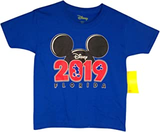 Disney Youth Unisex 2019 Mickey Mouse Silhouette Shirt (Extra Small) Blue