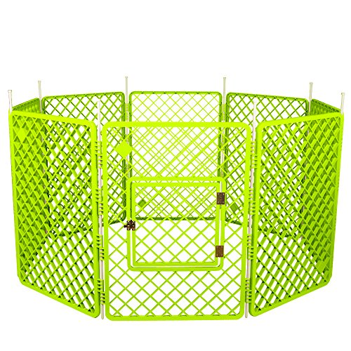 Iris Ohyama, Recinto per cani / Outdoor Gabbia / Recinto / 8 - Pet Circle - H-908, Plastica, Verde, 11, 4 Kg, 60 X 60 X 86 Cm