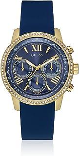 Guess Women's Blue Dial Rubber Band Watch - W0616L2