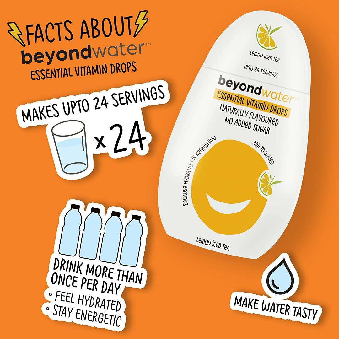 Beyond Water - Water Enhancer for Infusing your Drinks ( Mango Peach + Zesty Orange + Lemon Mint + Lemon Ice Tea) (Combo Pack of 4 Flavours)