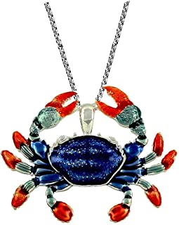 DianaL Boutique Beautiful Crab Pendant Necklace Cancer Horoscope Zodiac Sign with 24