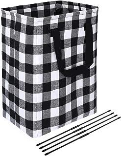 Xingte 66L Buffalo Laundry Storage Basket with Detachable Brackets Well-Holding Foldable Nursery Hamper Basket Home Organi...