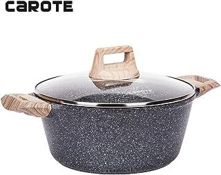 Carote 9.5 inch/4.3 Quart Non-stick Granite Stone Coating Casserole Dish with lid…
