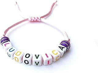 Bracciale LUDOVICA reversibile regolabile con nome, testo, logo, messaggio; regalo personalizzato mamma, papà, compleanno,...