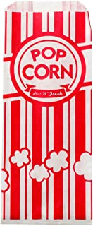 Paper Popcorn Bags 1 oz (Pack of 100) for Concession Stands, Movie Theaters, Snack Bars, Birthday Parties, and Home Movie Nights.