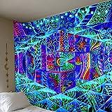 GenericBrands Tapiz Azul Compartimento Infinito Fondo Paño Abstracto Océano Decoración de la Pared Paño Home Mural Dormitorio Decoración del hogar