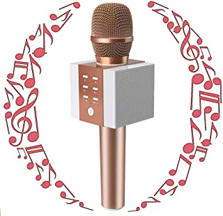 TOSING Wireless Karaoke Microphone for Kids, Bluetooth Karaoke Singing Machine with Speaker, Christmas Birthday Home Party for Smartphones,Birthday Gifts and Present Toys for 5 6 7 8 9 Year Old Girls