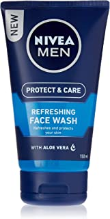 NIVEA Men Protect & Care Refreshing Face Wash, Formulated with Aloe Vera & Provitamin B5 to Refresh and Protect Your Skin, 150ml