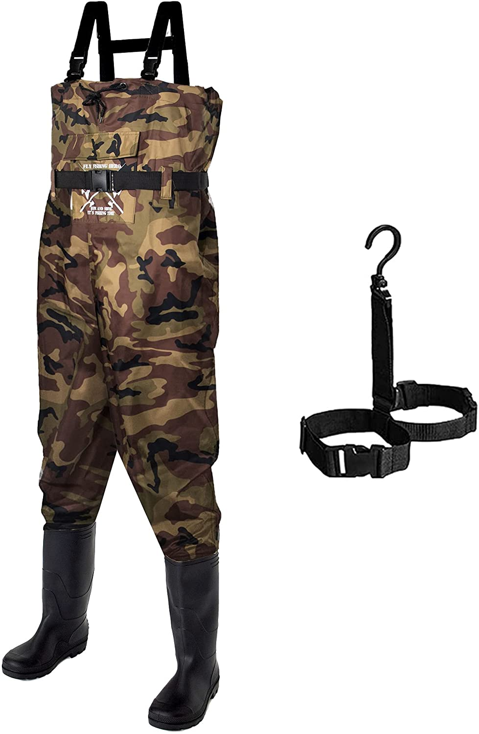 Fly Fishing Hero チープ Chest 100%品質保証 Waders Boots Hunting with for Men