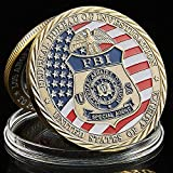 US FBI Saint Michael Challenge Coins Collection Art Craft Collector's Medallion, Jewelry Quality