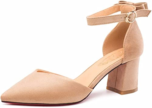 AJUNR Femmes Loisirs Printemps et été Mode Sandales Chaussures Wild 6cm Chaussures Rugueux Peu Profonde a Fait Seul Les Chaussures