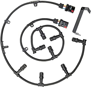 Powerstroke 6.0 Glow Plug Harness Kit Includes Right Left Harness Removal Tool,Compatible with 2004-2010 Ford 6.0L V8 Powerstroke Diesel Engine Ford F-250 F-350 F-450 Super Duty Excursion E-350 E-450