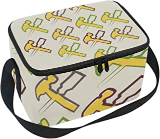Lunch Bag Tools, Large Insulated Bento Cooler Box with Black Shoulder Strap for Men Women Kids, BaLin 10