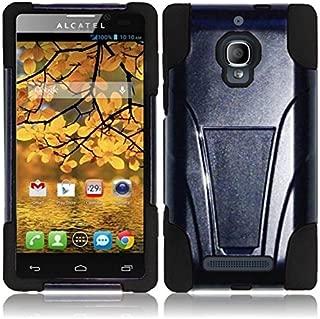 For Alcatel One Touch Fierce 7024W Cover Case (TSTAND Hybrid Black/Black)