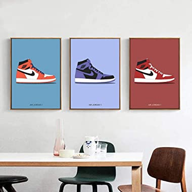 YGYT 3 Piece Fashion Shoes Canvas Poster for AJ Shoes Air Sneaker Michael Home Decor Wall Art Painting Picture on Canvas for