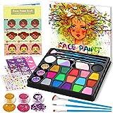 lenbest 17 Colores Pinturas Cara, Pintura Facial con 1 Libro Tutorial de Pintura Facial, 256...