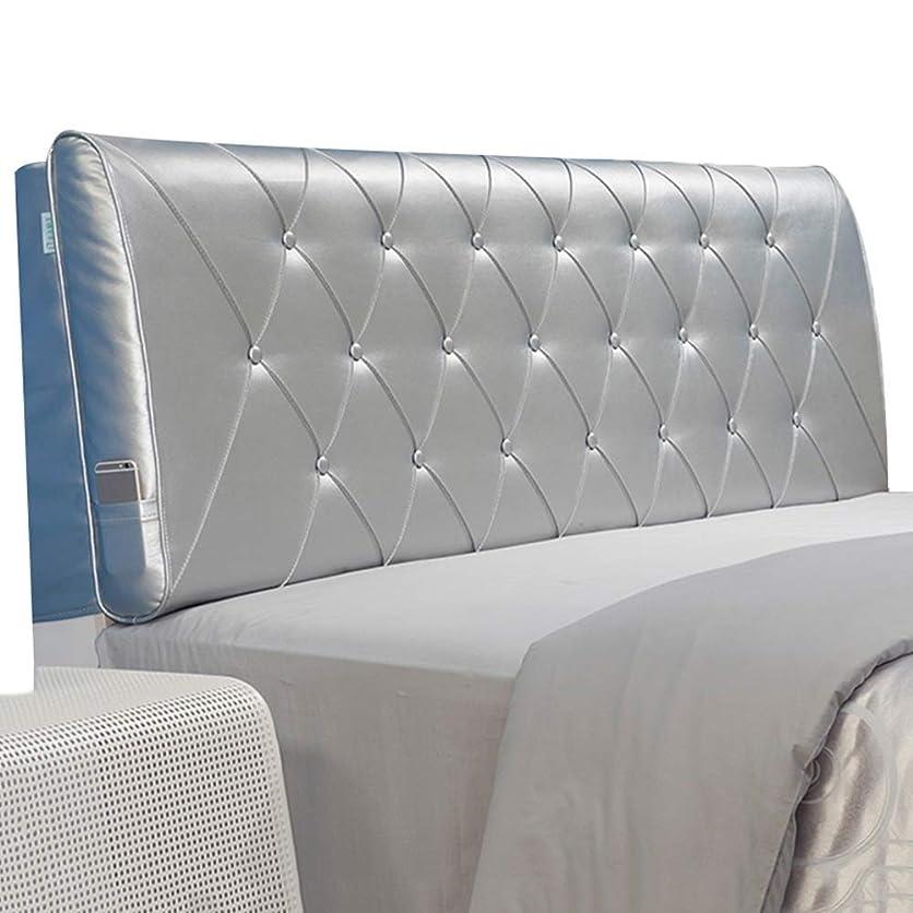浴室不快スペードWZBヘッドボードクッション衝突防止枕環境に優しいPUスポンジがウエストを保護、5サイズ、4色(色:シルバー、サイズ:160x60x11cm)