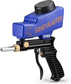 EWK Hand Held Portable Media Spot Sand Blaster Gun Air Gravity Feed Sandblaster Rust Remover