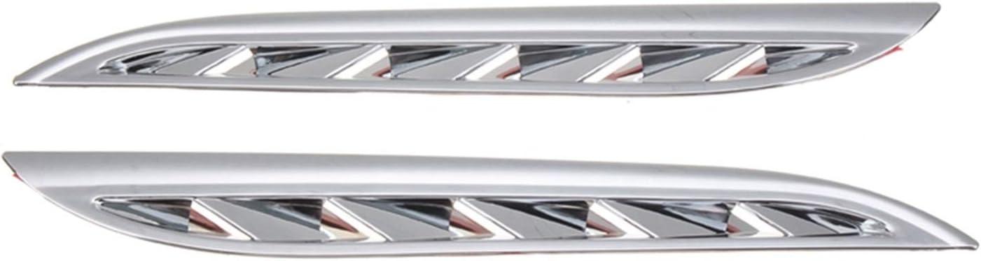 MIAOXIAO Seedling Store 2pcs Lateral de ventilación de ventilación de ventilación de ventilación Cubiertas de Ajuste para Suzuki Grand Vitara 2006-2013 Cubiertas de reemplazo (Color : Silver)