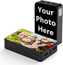 Shumei Customized Photo Portable Charger Power Bank 10000 mAh LCD Display Volume 2.4A High-Speed Charging Ultra Light and Small Compatible with iPhone x and More (Black)