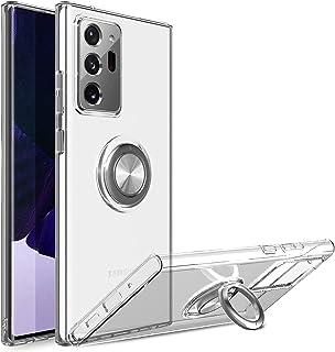 حافظة هاتف فائقة الحماية - مسند معدني على شكل حلقة - من السيليكون المرن - حافظة خفيفة الوزن ونحيفة (سامسونج جالكسي نوت 20 ...